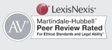 Matindale-Hubbell Peer Review Rated